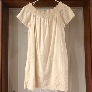 Zara Embroidered Off the Shoulder Dress